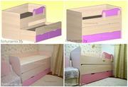 Выкатная двухуровневая кровать для детей в Минске
