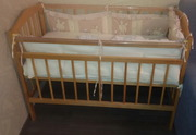 Кроватка детская классическая б/у 10 мес.